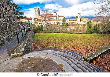 Italian heritage in Cividale del Friuli ancient skyline...