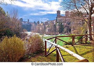 Italian heritage in Cividale del Friuli Natisone river...