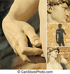 italian heritage - collage with details of famous italian...
