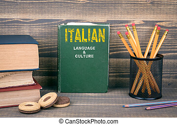 Italian language and culture concept