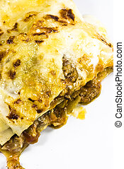 italian lasagna on a plate