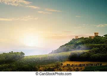Italian Medieval Village landscape