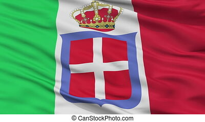 Italian Monarchy Flag Closeup Seamless Loop - Italian...