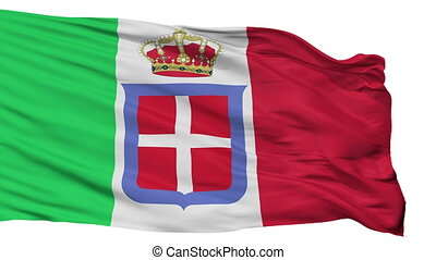 Italian Monarchy Flag Isolated Seamless Loop - Italian...