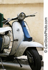 Italian Motor Scooter - Italian white motor scooter