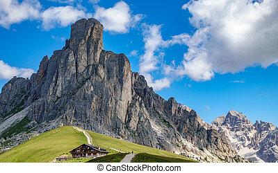 italian mountains, passo Giau in the Alps n2