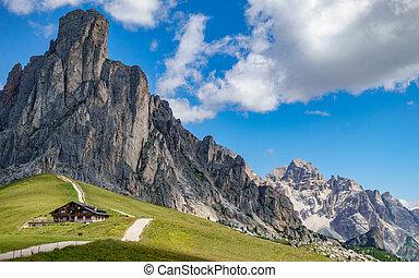italian mountains, passo Giau in the Alps