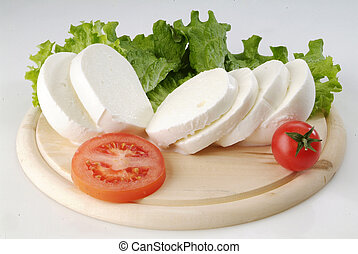 italian mozzarella dish - Italian salad with slices of ...