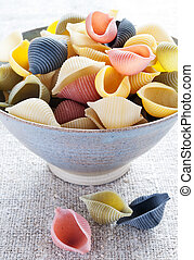 Italian multi colored pasta