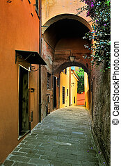 Italian Narrow colorful street