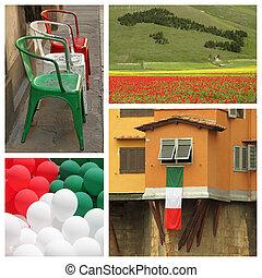 italian national patriotic collage