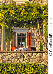 Italian outdoor cafe