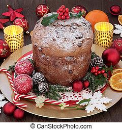 Italian Panettone Christmas Cake