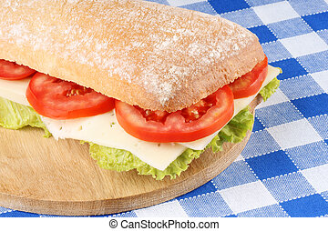 Italian panino - Close-up of an italian panino (sandwich)...