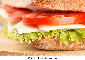 Italian panino sandwich - Close-up of an italian panino...