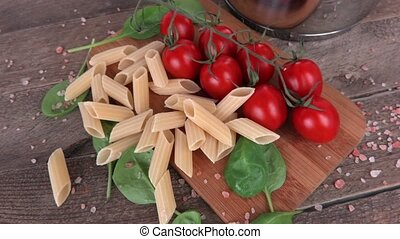 Italian pasta and tomatoes