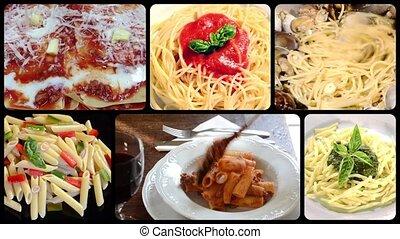 italian pasta collage