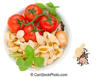 italian pasta in plate