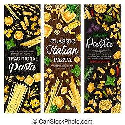 Italian pasta, Italy cuisine dishes - Italian pasta, Italy...