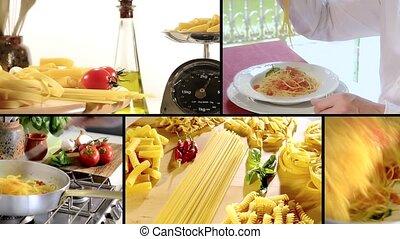 Italian pasta montage