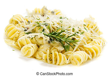 Italian pasta with parmesan cheese