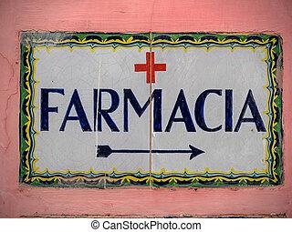 inscription of a pharmacy in italy