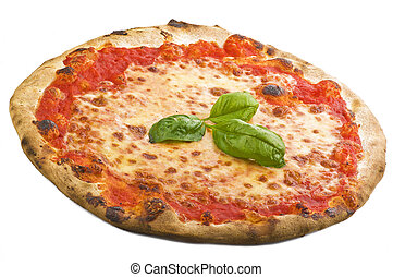 Italian pizza on the white background