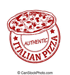 Italian pizza stamp
