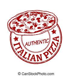 Italian pizza stamp