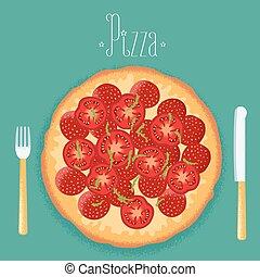 Italian pizza vector illustration