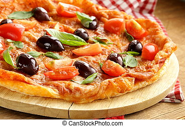 Italian pizza with olives