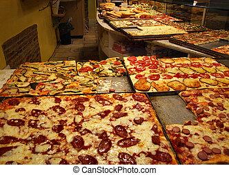 Italian pizzeria style restaurant - Interior of an Italian...