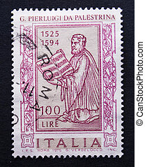Italian postage stamp with Palestrina
