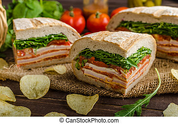 Italian Pressed Sandwich - full of tasty. Italian ham and...