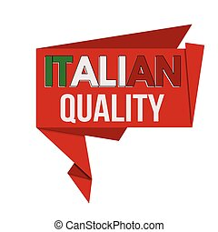 Italian quality origami speech bubble