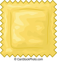 Italian ravioli pasta vector illustration