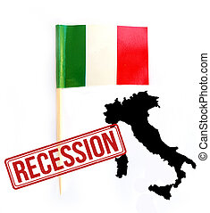 Italian recession concept background