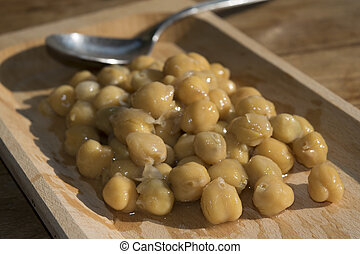 chickpeas - Italian recipes: soup of chickpeas in stew with...