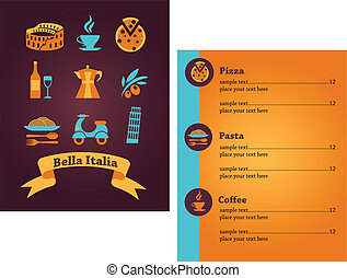 Italian Restaurant menu design - Template designs of Italian...