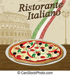 Italian Restaurant poster - Italian Restaurant vintage...