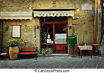 Italian restaurant - Entrance of old italian restaurant in...