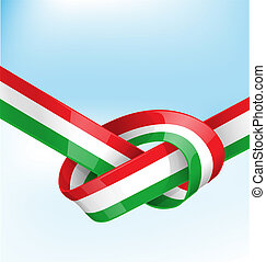 italian ribbon  flag
