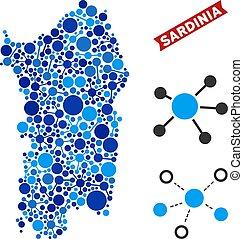 Italian Sardinia Island Map Connections Collage - Web...