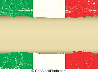 Italian scratched flag - An italian flag with a large frame...