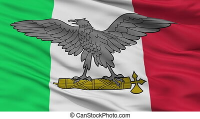 Italian Social Republic War Flag Closeup Seamless Loop - War...