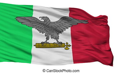 Italian Social Republic War Flag Isolated Seamless Loop -...