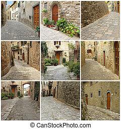 italian streets collage