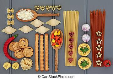 italian táplálék, mintaszalag