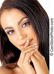 Italian tanned woman - beautiful Italian tanned young woman ...
