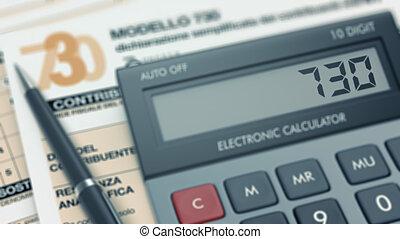 italian tax concept